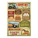 I Love My Tractor Cardstock Stickers - Karen Foster