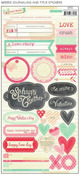 Love Notes Journaling & Title Stickers - Crate Paper