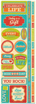 Celebrate Life Die Cut Cardstock Stickers - Reminisce