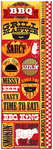 BBQ Die Cut Cardstock Stickers - Reminisce