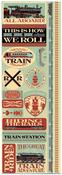Train Die Cut Cardstock Stickers - Reminisce