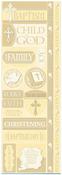 Baptism Die Cut Cardstock Stickers - Reminisce