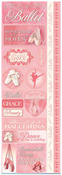 Ballet Die Cut Cardstock Stickers - Reminisce