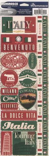 Italy Die Cut Cardstock Stickers - Reminisce