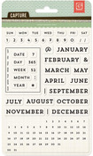 Universal Calendar Clear Stamp - Capture - Basic Grey
