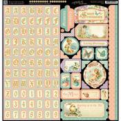 Sweet Sentiments Alpha & Borders Stickers - Graphic 45