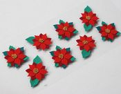 Holiday Poinsettias Mini Stickers - Little B