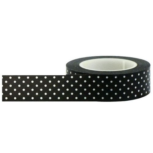 Black With Small White Polka Dots Washi Tape - Little B
