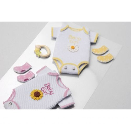 Baby Girl Onsies Medium Stickers - Little B