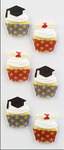 Graduation Cupcakes Mini Stickers - Little B