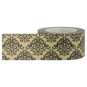 Black Brown Damask Washi Tape - Little B