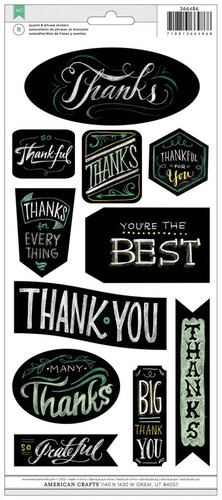 Thanks Chalkboard Stickers - American Crafts