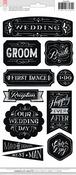 Wedding Chalkboard Stickers - American Crafts