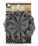 Grey Burlap Flower - Canvas Corp