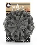 Grey Burlap Flower - Canvas Corp