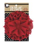 Red Burlap Flower - Canvas Corp