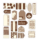 Chocolate On Ivory Tags - Canvas Corp