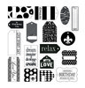 Black On White Tags - Canvas Corp 17 tags per package approx 1.5  x 2.5