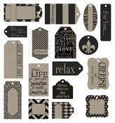 Black On Kraft Tags - Canvas Corp