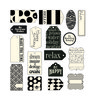 Black On Ivory Tags - Canvas Corp 17 tags per package approx 1.5  x 2.5