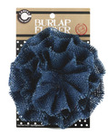 Denim Burlap Flower - Canvas Corp