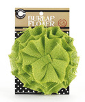 Lime Green Burlap Flower - Canvas Corp