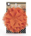 Orange Burlap Flower - Canvas Corp