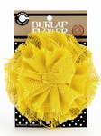 Yellow Burlap Flower - Canvas Corp