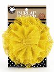 Yellow Burlap Flower - Canvas Corp