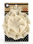 Ivory Burlap Flower - Canvas Corp