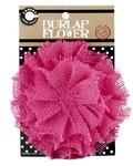 Hot Pink Burlap Flower - Canvas Corp