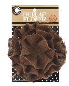 Chocolate Burlap Flower - Canvas Corp