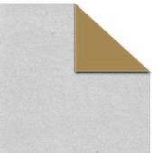 Silver Metallic On Kraft Paper - Canvas Corp