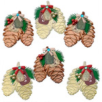 Mini Pinecone Bunches Dimensional Stickers - Jolees