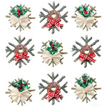 Chipboard Snowflake Dimensional Stickers - Jolees