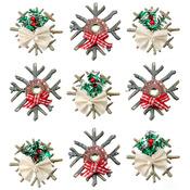 Chipboard Snowflake Dimensional Stickers - Jolees