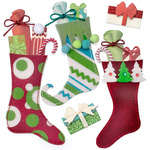 Stuffed Stockings Dimensional Stickers - Jolees