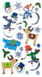 Roly - Poly Snowmen Stickers - Sticko Stickers