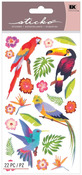 Colorful Birds Shimmer Stickers - Sticko
