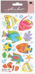 Colorful Fish Friends Shimmer Stickers - Sticko