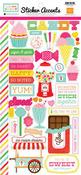 I Love Candy Stickers - Echo Park Mini Theme