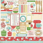 Homemade With Love Element Sticker Sheet - Carta Bella