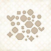 Blue Fern Bits Chipboard Shapes - Blue Fern Studios