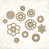 Bohemian Flowers Chipboard Shapes - Blue Fern Studios