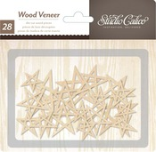 Wood Veneer Handdrawn Stars - Printshop - Studio Calico