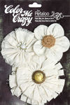 Canvas Flowers - Shabby Chic Cut Flowers - Petaloo