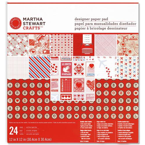 Love Notes 12 x 12 Paper Pad - Martha Stewart Crafts