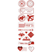 Love Notes Foiled Postage Stickers - Martha Stewart Crafts