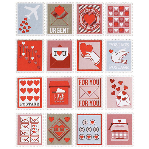 Love Notes Postage Stickers - Martha Stewart Crafts