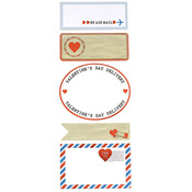 Love Notes Airmail Label Stickers - Martha Stewart Crafts
